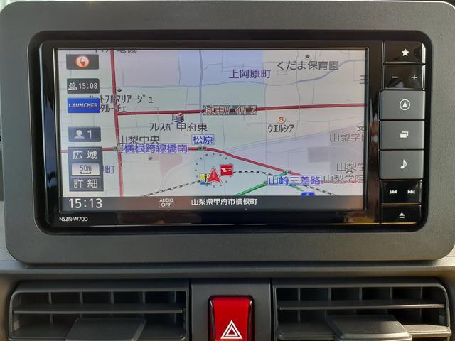 純正フルセグナビゲーション☆地図やTVなどのオーディオ機能も充実してるので、快適なドライブができます