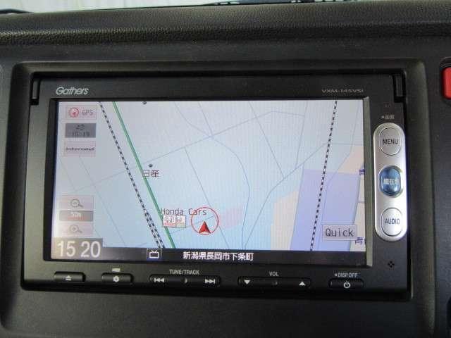 純正ギャザズメモリーナビ搭載車!!ナビ起動までの時間と地図検索する速度が最大の魅力で、初めての道でも安心・快適なドライブをサポートします
