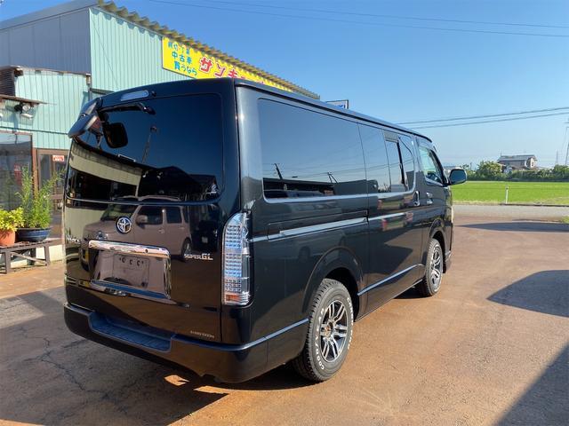 ロングスーパーGL ナビテレビ 社外アルミ 4WD 4型フェイス変更 社外テールランプ 新品リアベッド 社外ボンネット(8枚目)