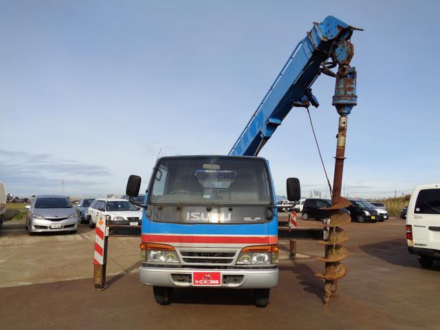 穴掘り建柱車 アイチ D502 3段 2.9t吊 1500h(14枚目)