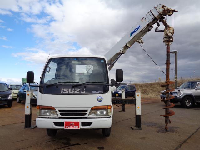 穴掘り建柱車 アイチ D502 ドリルオーガ付 エアコン(2枚目)
