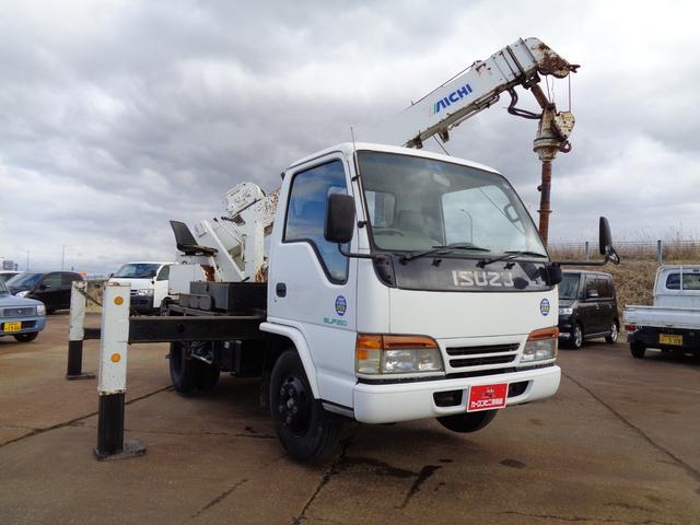 穴掘り建柱車 アイチ D502 ドリルオーガ付 エアコン(3枚目)