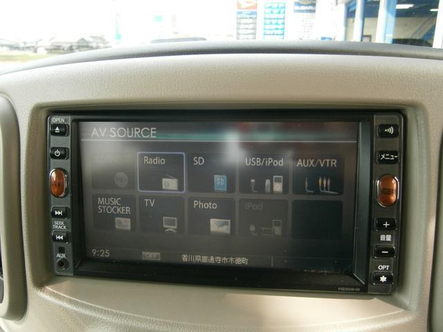 日産 キューブ 15X Mセレクション 純正HDDナビ