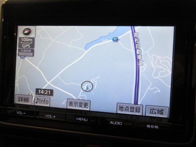 純正メモリーナビ フルセグTV搭載。 ドライブで活躍します!