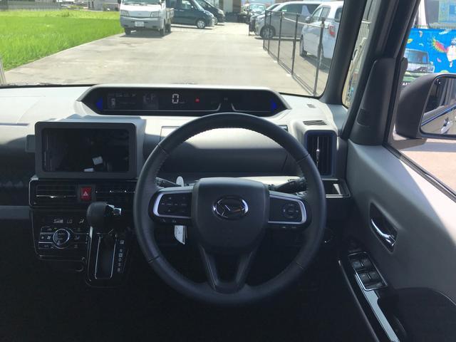 カスタムRS 両側パワスラ 運転席ロングスライドシート スマートキー プッシュスタート LEDヘッドライト ミラクルオープンドア スマアシ 純正アルミ ステアリングスイッチ オートエアコン オートライト ETC(32枚目)