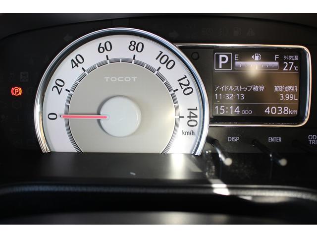 まあるいスピードメーターはバックカラーが明るく表示も大きいのでとっても見やすいです。