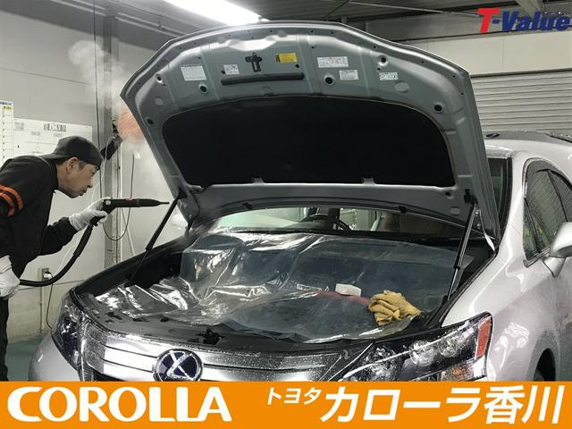 エンジンルームもまるまる洗浄致します。ダンパー部分の汚れもスチーム洗浄し綺麗に除去致します。