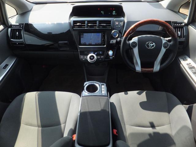 トヨタ プリウスアルファ S 買取直販 純正HDDナビ ホワイトカーボンルーフ
