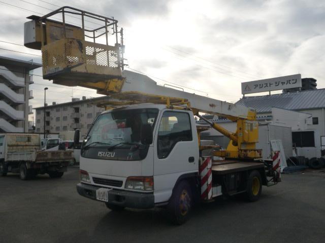 いすゞ エルフトラック エルフ高所作業車アイチSJ16メートル