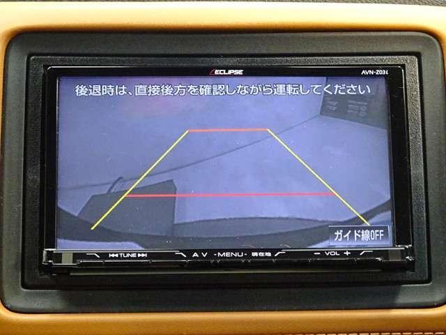 バックをするとき自動でリアの様子が映る『リアカメラ』付き! ナビ画面で確認しながらバックができますから安心ですね。でも、目視も大切ですよ!安全第一でお願いします♪