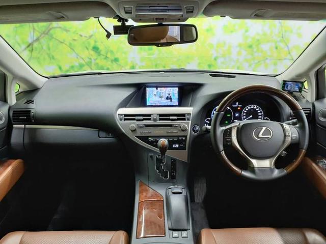 RX450hバージョンLエアサスペンション 純正ナビ/バックモニター/サンルーフ/シート ルレザー/電動バックドア/ヘッドランプ HID/ETC/ABS/横滑り防止装置/AW 革シート バックカメラ 電動シート 4WD HIDヘッドライト(4枚目)