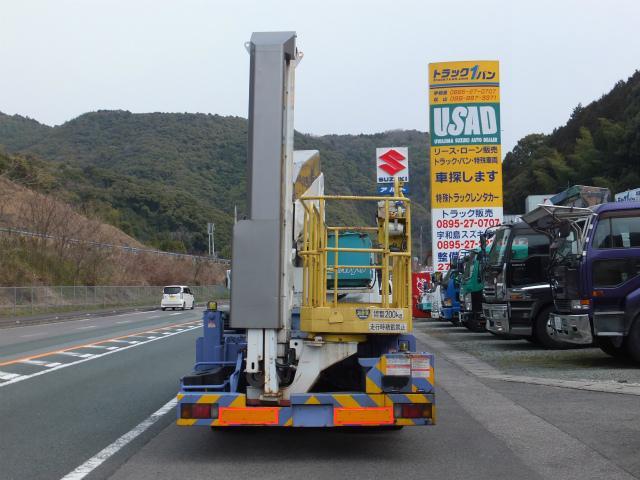 いすゞ エルフトラック ワイド 橋梁点検車