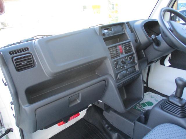 みのり 届出済未使用車 4WD 5速MT エアコン パワステ Wエアバック ABSブレ-キ AM/FMラジオ(時計付)  Hi/Lo切替 デフロック バックブザ- 作業灯 プロテクター テールゲートチェーン(26枚目)