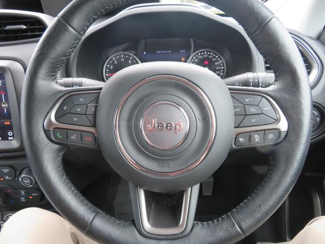 リミテッド レネゲード リミテッド ETC バックモニター TV Bluetooth接続 ナビ レザーシート 認定中古車保証 ターボ付き パワーシート LED ワンオーナー(8枚目)
