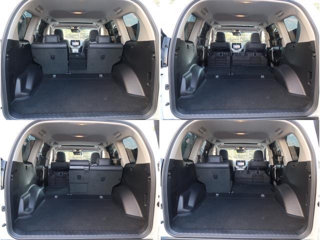 後部座席を畳めば大きな荷物もしっかり対応可能です。荷室にも擦れや傷等も無く大変綺麗な状態です。