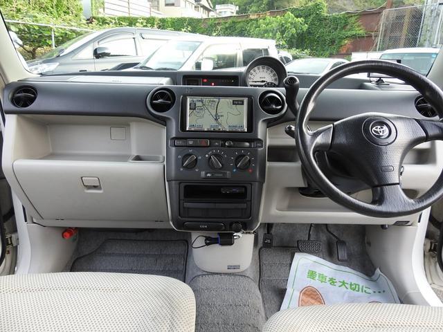 トヨタ bB オープンデッキ ユピテルポータブルカーナビ・ETC