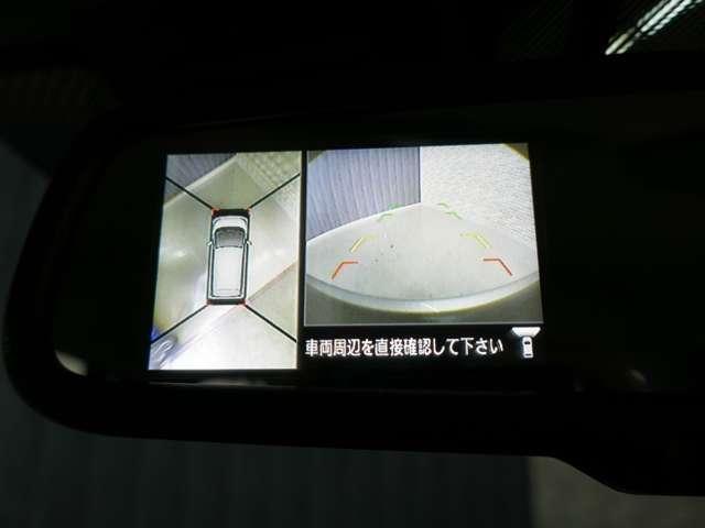 空から見たような映像が映るアラウンドビューモニター