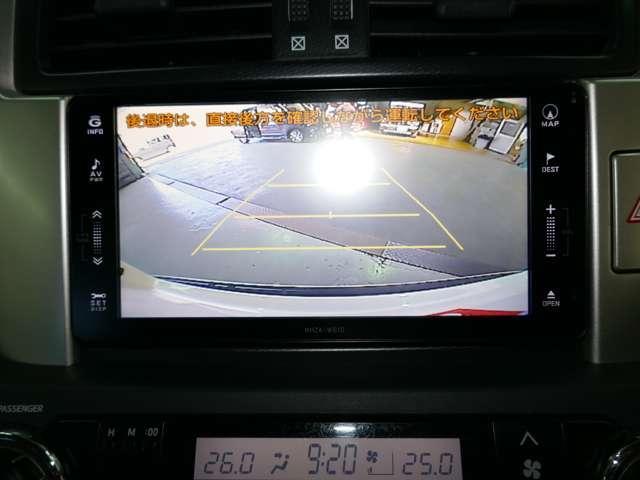バックカメラ付で駐車も安心