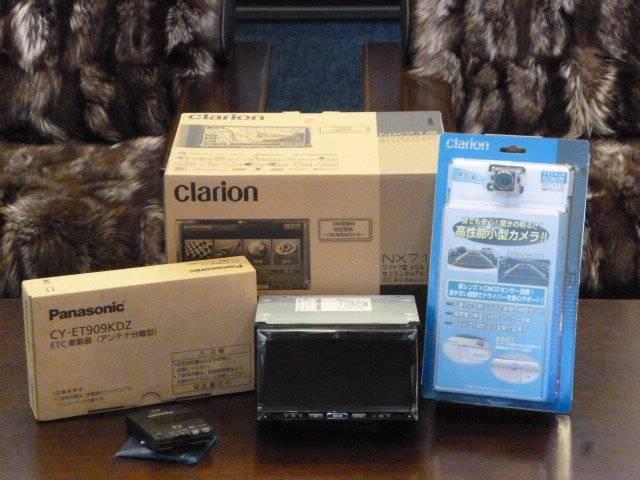 クラリオンSDナビパッケージでクラリオンNX614+パナソニックETC、クラリオンリアカメラがセットで工賃込み181.440円にて販売いたしております。お問い合わせは 0066-9706-769102