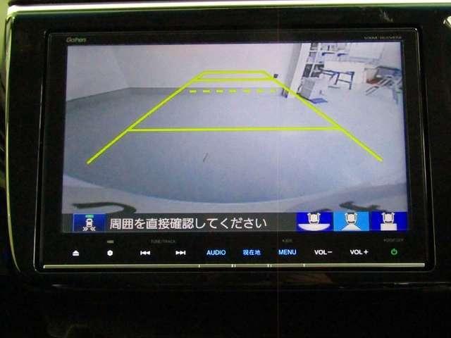 バックモニターつきで後方を確認しながら安心して駐車ができますね。 ノーマル ワイド トップダウンの3モードへ切替可能です。