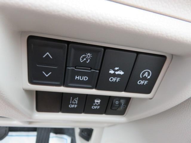 ヘッドアップディスプレイ、デュアルセンサーブレーキサポート、車線逸脱警報機能、ESP、アイドリングストップ