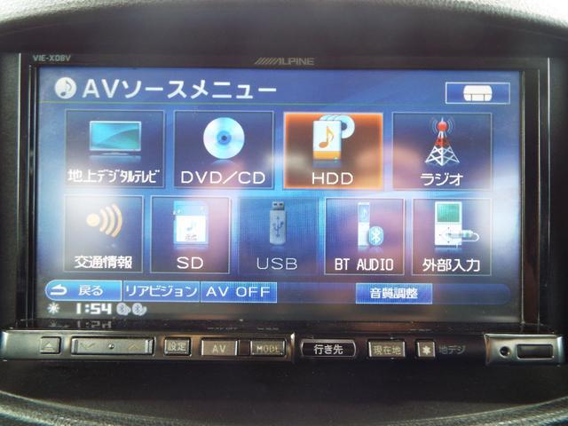 社外HDDナビ装備でお好きな音楽をどうぞ♪