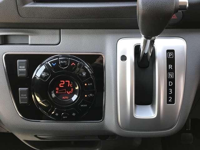 オートエアコンも装備しております★使いやすさとデザインにこだわり、液晶モニターと大きなスイッチを採用したオートエアコンを新設定★