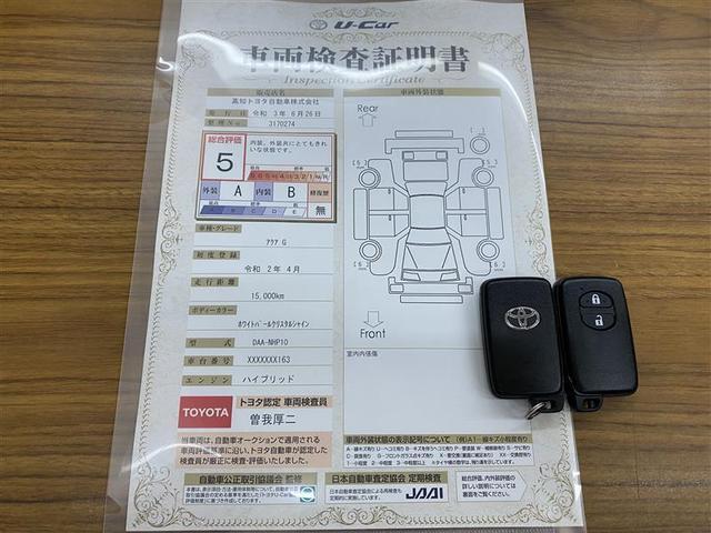 車両検査証明書+スマートキー2本