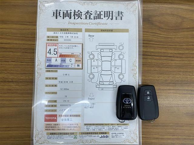 車両検査証明書+スマートキー2個