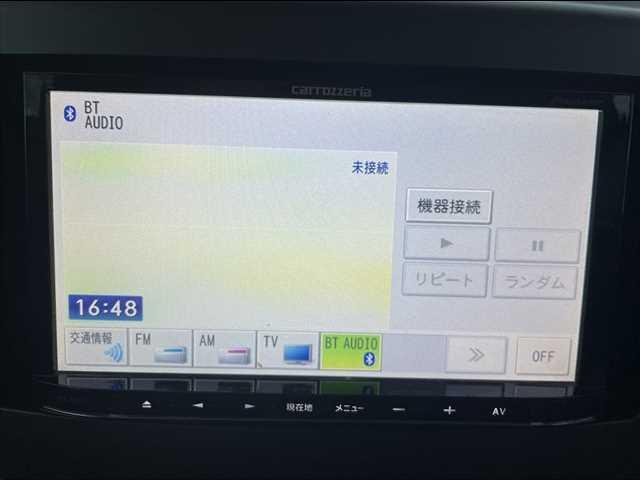 後期 社外メモリーナビ フルセグTV DVD再生 Bluetooth スマートキー スペアキー エコアイドル 純正セキュリティ 純正マットバイザー チルトステアリング シートリフター(4枚目)