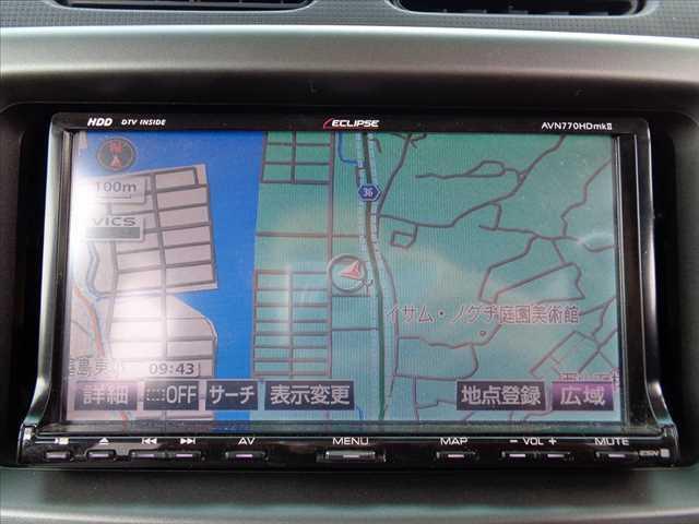 カスタム RS 後期 ターボ 社外HDDナビ フルセグ DVD再生 スマートキー MOMOステアリング HIDヘッドライト 電格ウインカーミラー 純正15インチAW シートリフター アームレスト WSRSエアバッグ(5枚目)