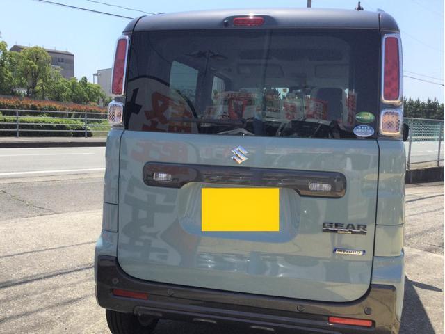 ハイブリッドXZ 届出済未使用車/LEDヘッドランプ/LEDフォグランプ/左側電動スライドドア/スリムサーキュレーター/ロールサンシェード/後席右側テーブル/シートヒーター/USBソケット/スズキセーフティサポート(3枚目)