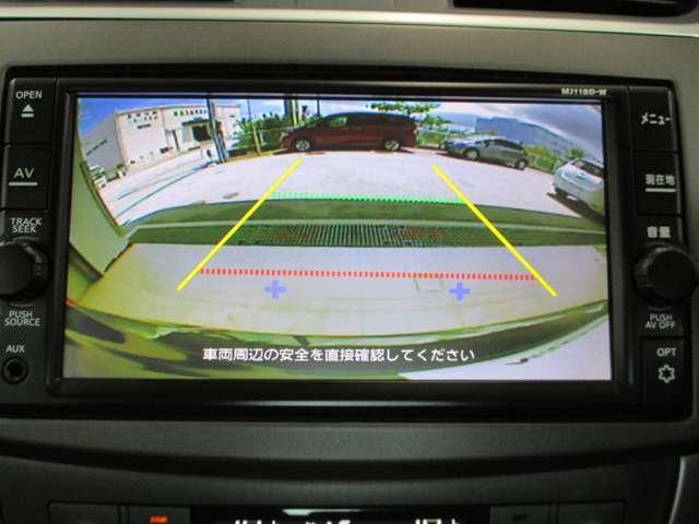 バックモニターで後方の視界をアシストしてくれるので安心して駐車出来ます!