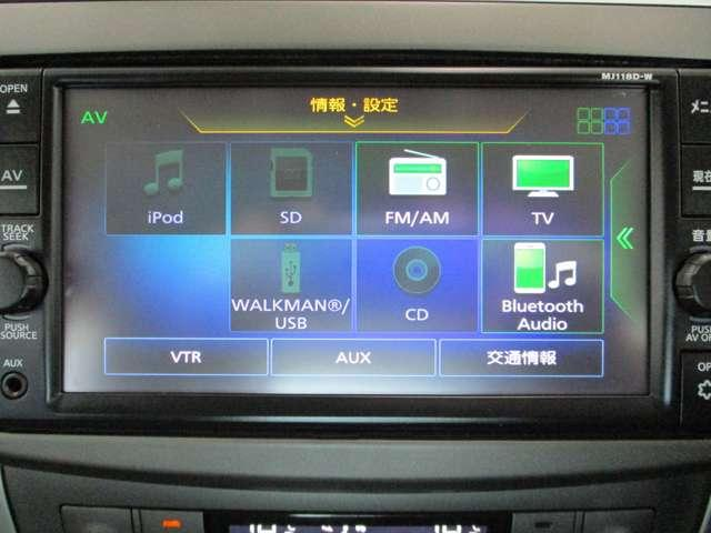 TV、CD再生、Bluetoothオーディオ機能付き。