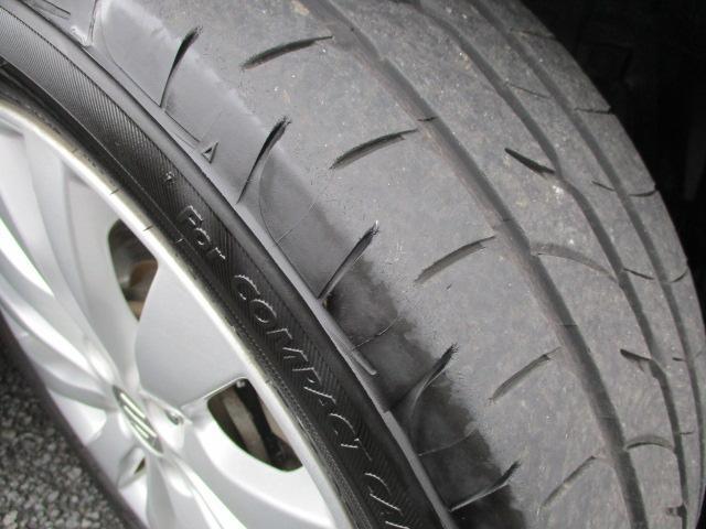 タイヤの溝はバッチリです。
