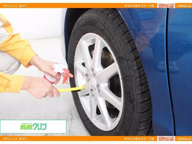 タイヤ、ホイールまでしっかり洗浄。