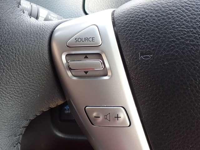 ステアリングスイッチでオーディオ系の操作が可能〜 ハンドルから手が離れずにすむので安心♪