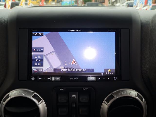 クライスラー・ジープ クライスラージープ ラングラーアンリミテッド サハラ DOPメモリーナビ 黒皮シート S&Bカメラ