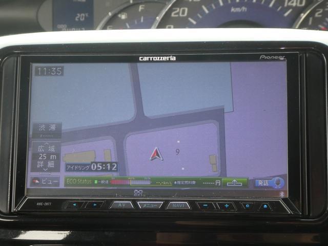 カスタムX 社外HDDナビ フルセグ Bluetooth接続 HIDヘッドライト フォグ アイドリングストップ 左電動スライド 電動格納ミラー ETC(17枚目)