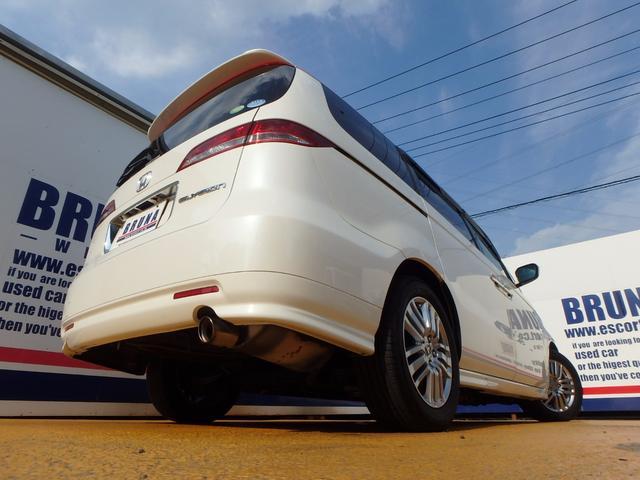 ホンダ エリシオン X両側パワスラ本革シート禁煙車Bカメ付HDナビ無限Frグリル