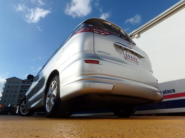 トヨタ エスティマ G3列目電格シート天吊モニター両側Pスラ禁煙車BカメHDナビ