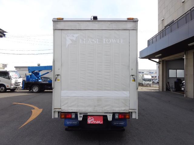 積載2トン カーテン車(4枚目)