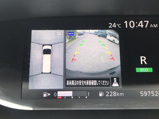 アラウンドビューモニター付きで車両の周りが見渡せるので駐車や安全確認が本当に楽です。