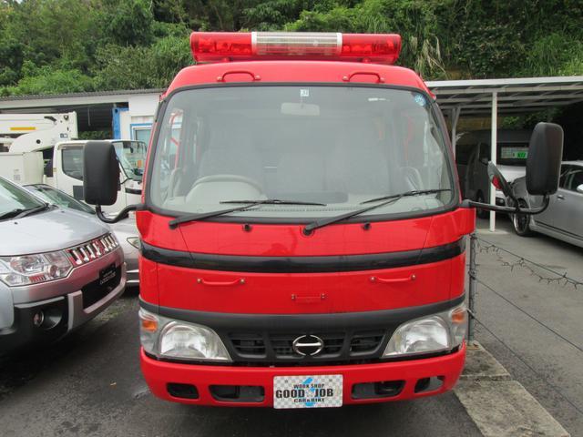 元消防車 ディーゼル ハイルーフ Wキャブ MT5速(2枚目)