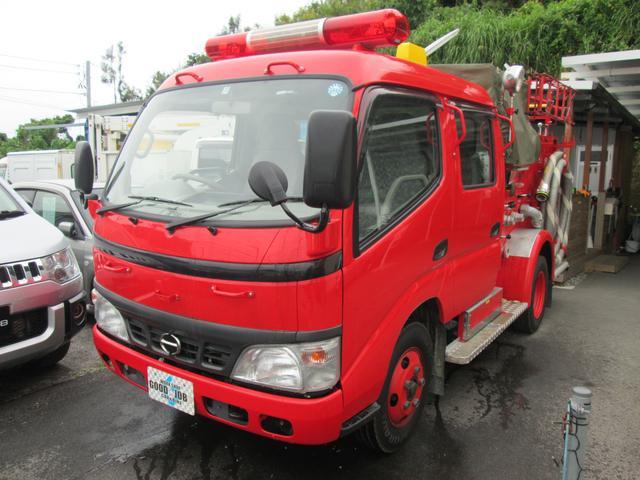 元消防車 ディーゼル ハイルーフ Wキャブ MT5速(3枚目)