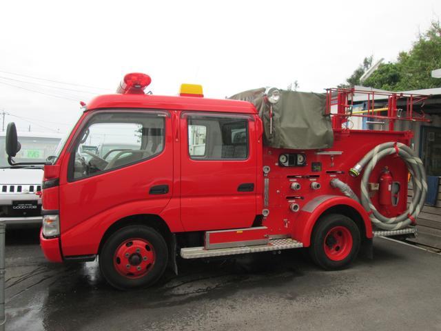 元消防車 ディーゼル ハイルーフ Wキャブ MT5速(4枚目)