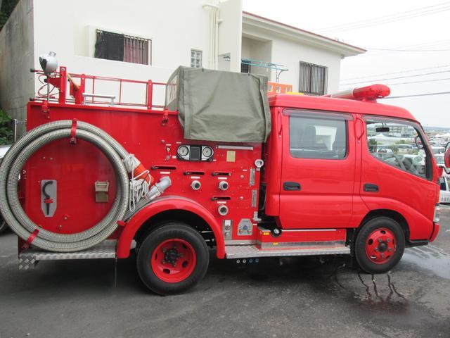 元消防車 ディーゼル ハイルーフ Wキャブ MT5速(8枚目)