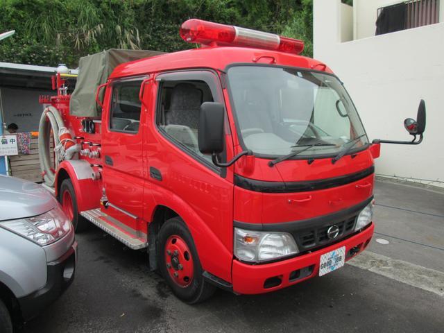元消防車 ディーゼル ハイルーフ Wキャブ MT5速(9枚目)