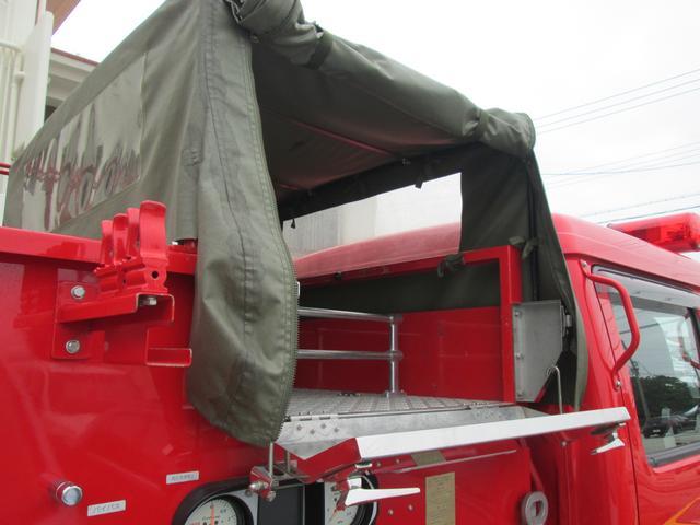 元消防車 ディーゼル ハイルーフ Wキャブ MT5速(18枚目)