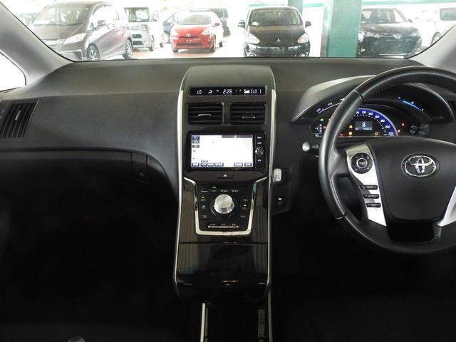 S 修復歴なし プッシュスタート 運転席/助手席パワーシート 純正SDナビ フルセグTV CD/DVD CD録音 バックモニター Bluetooth LEDヘッドライト ビルトインETC 純正アルミ(11枚目)